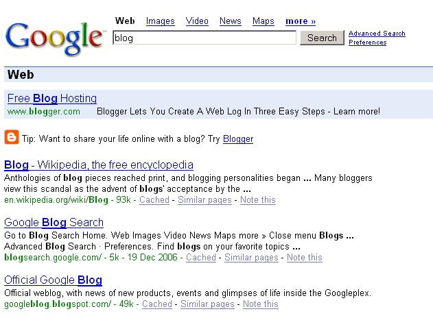 Google votes for Blogger